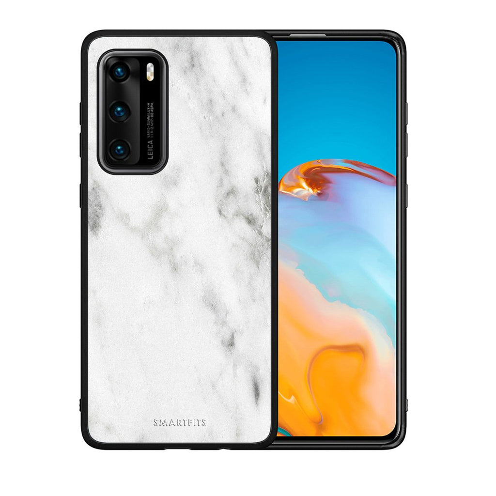 2 - Huawei P40  White marble case, cover, bumper