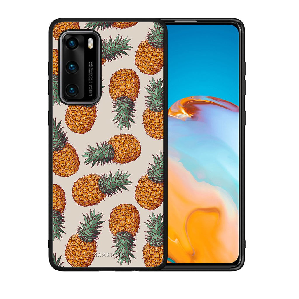 99 - Huawei P40  Summer Real Pineapples case, cover, bumper