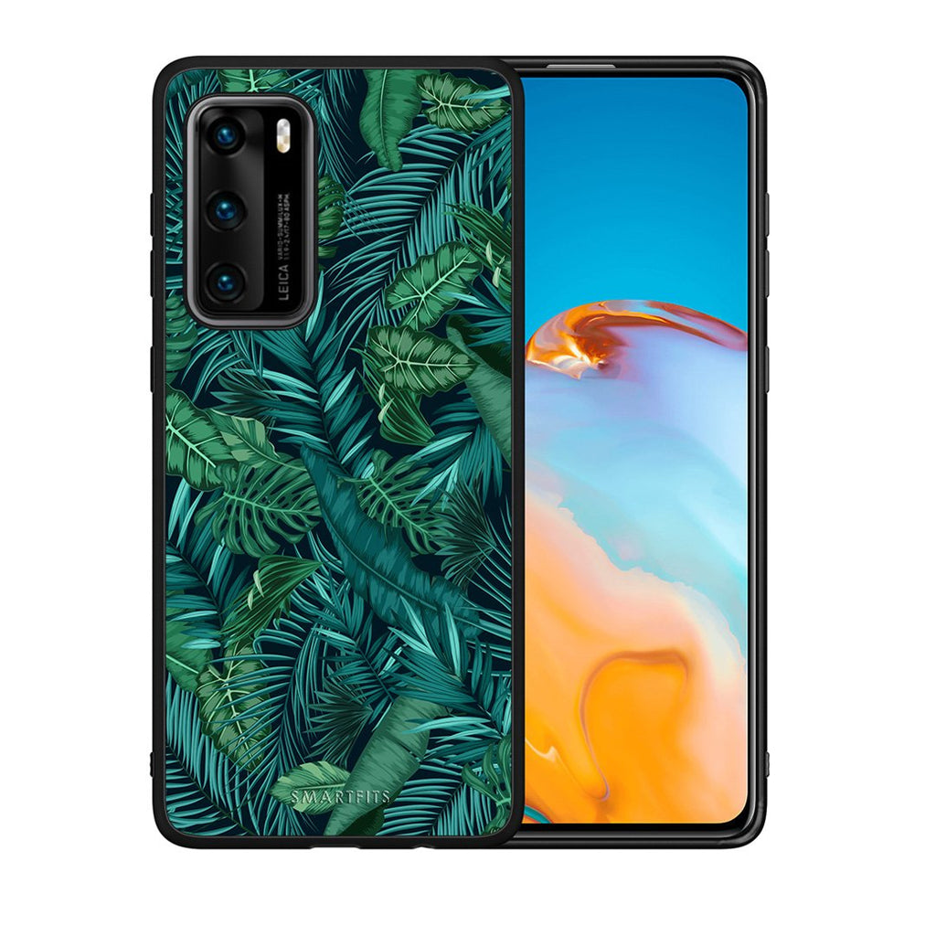 99 - Huawei P40  Tropic Leaves case, cover, bumper