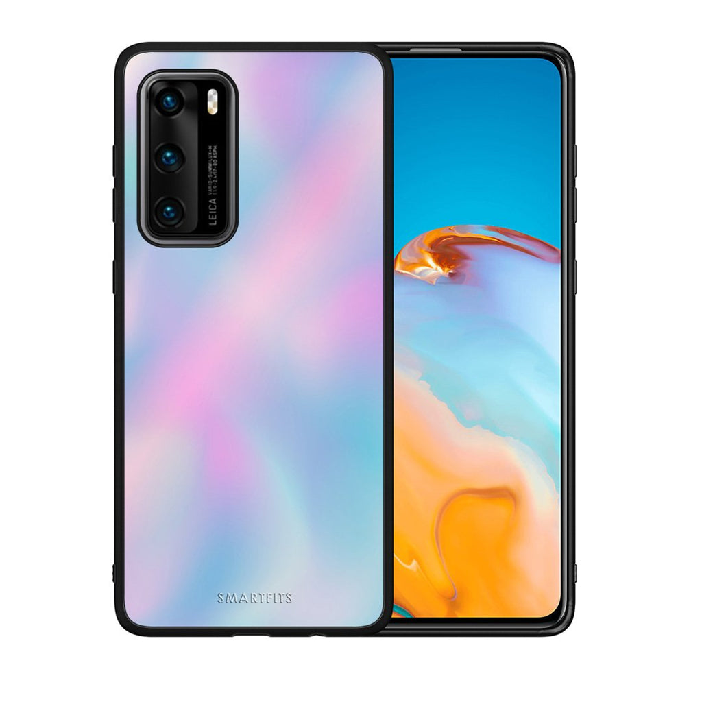 99 - Huawei P40  Watercolor Rainbow case, cover, bumper