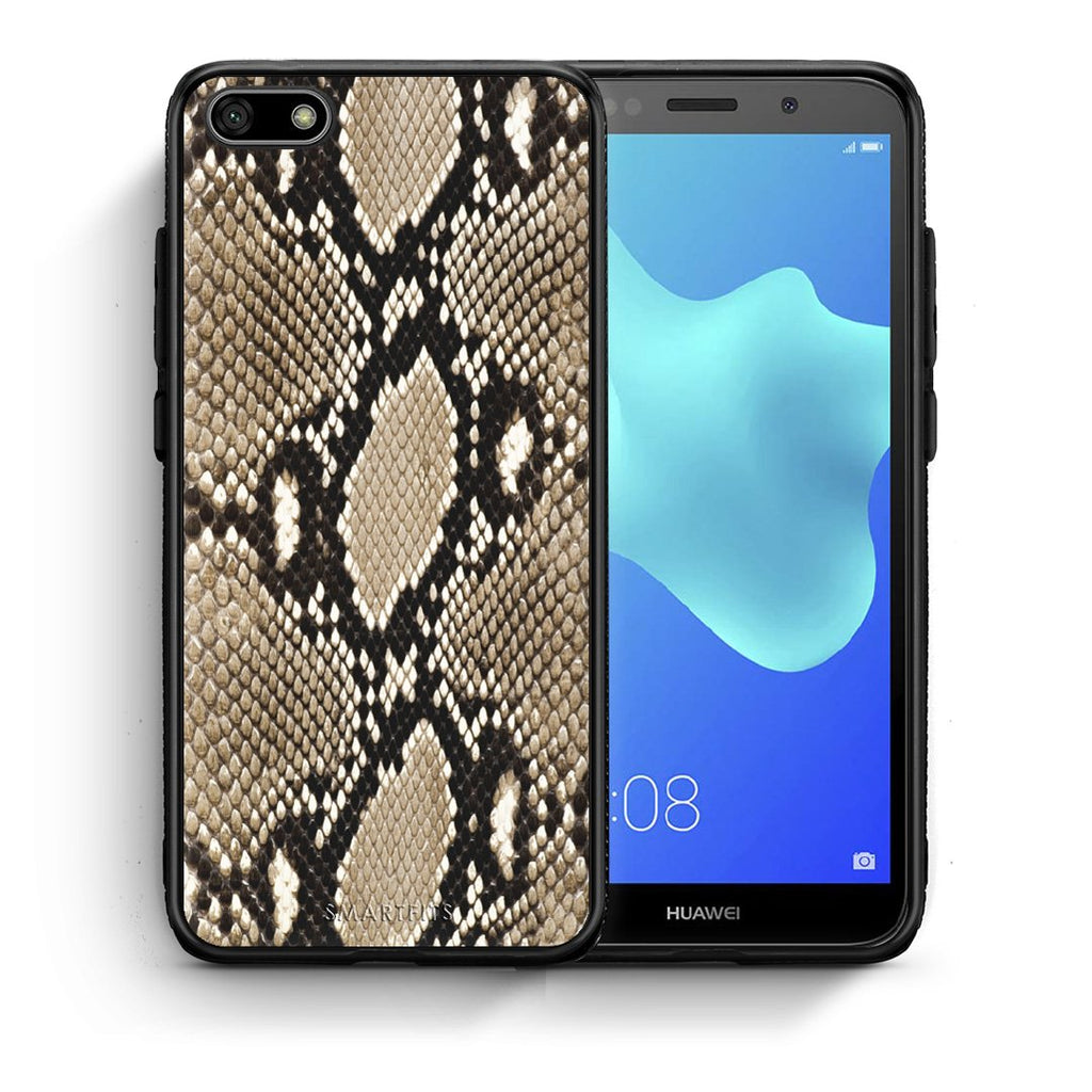 23 - Huawei Y5 2018 Fashion Snake Animal case, cover, bumper