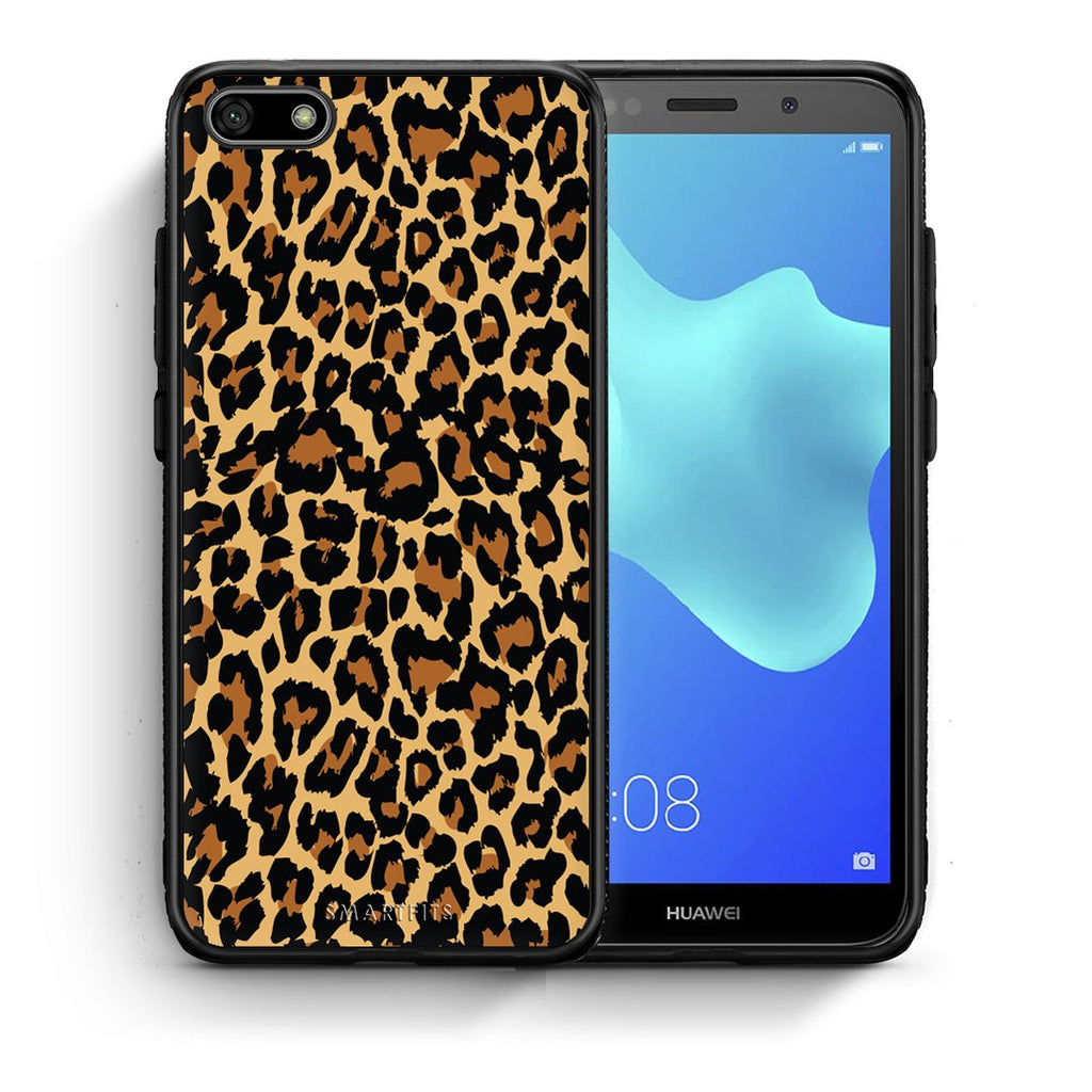 21 - Huawei Y5 2018 Leopard Animal case, cover, bumper
