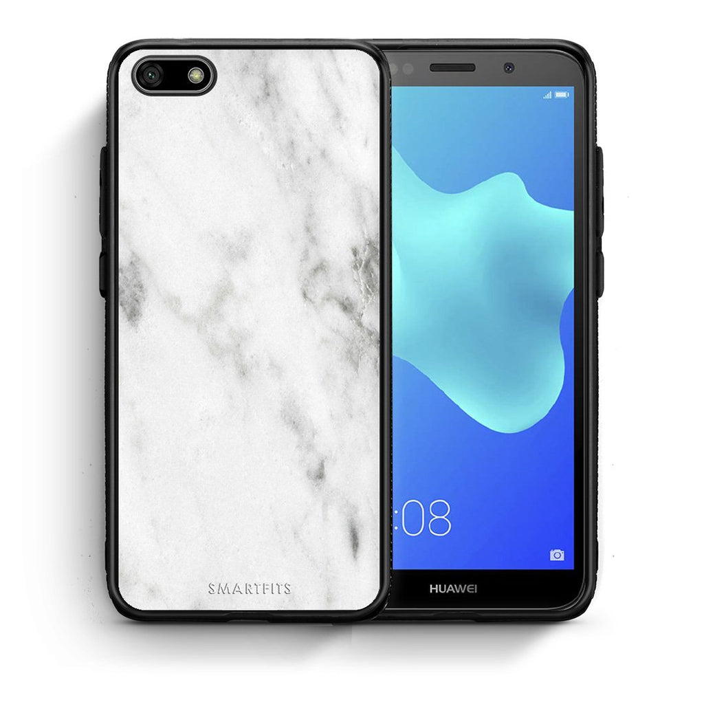2 - Huawei Y5 2018 White marble case, cover, bumper