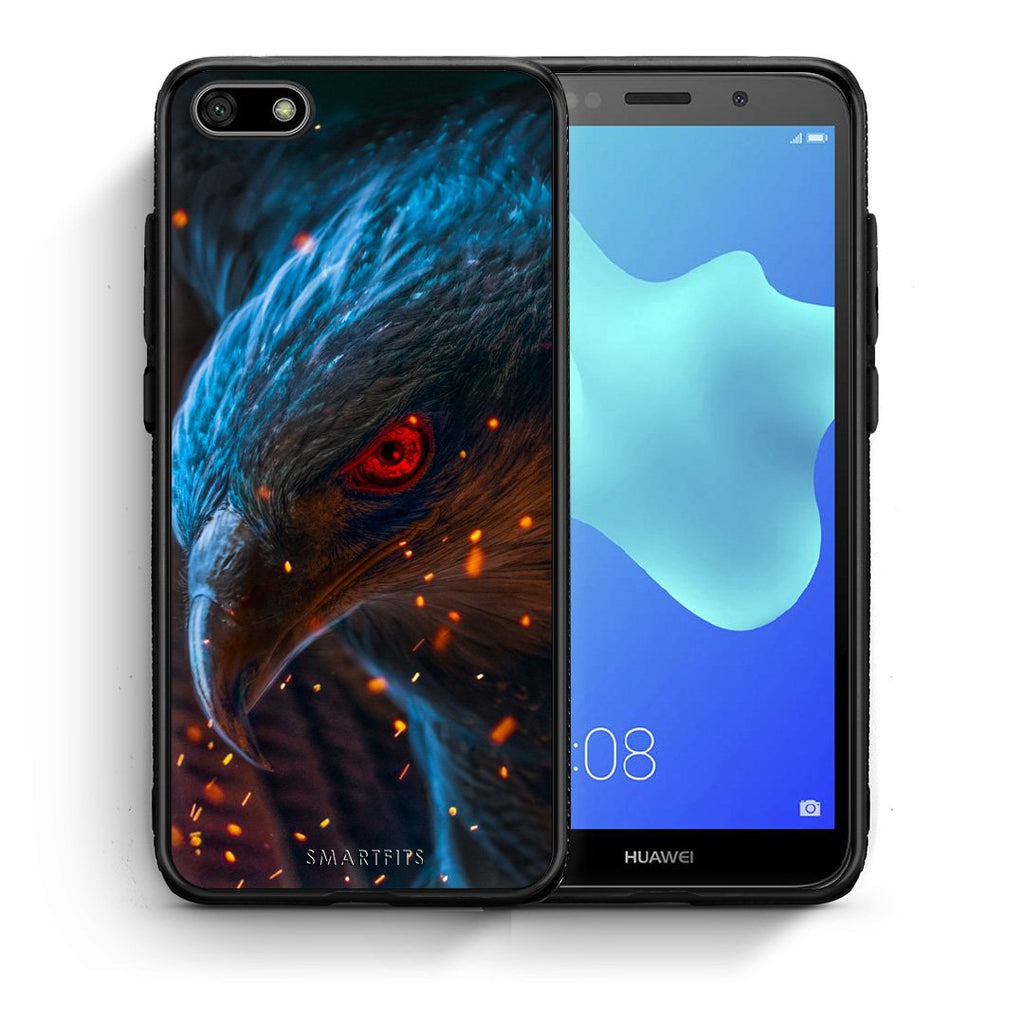 4 - Huawei Y5 2018 Eagle PopArt case, cover, bumper