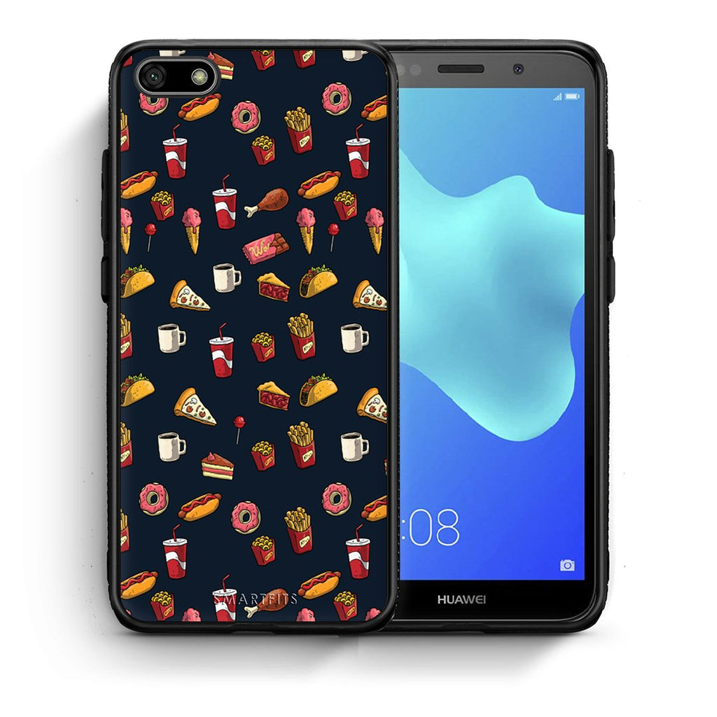 118 - Huawei Y5 2018 Hungry Random case, cover, bumper