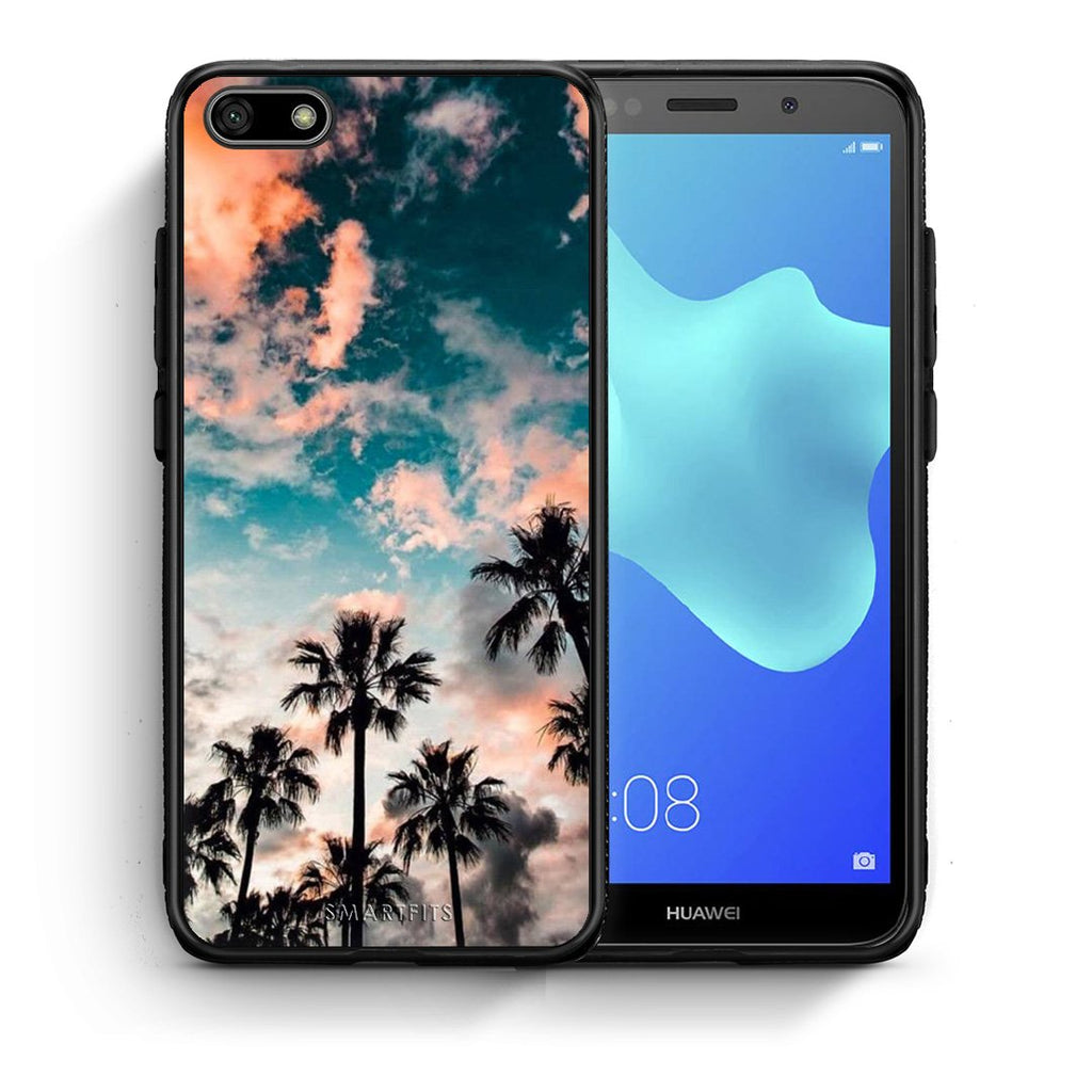 99 - Huawei Y5 2018 Summer Sky case, cover, bumper