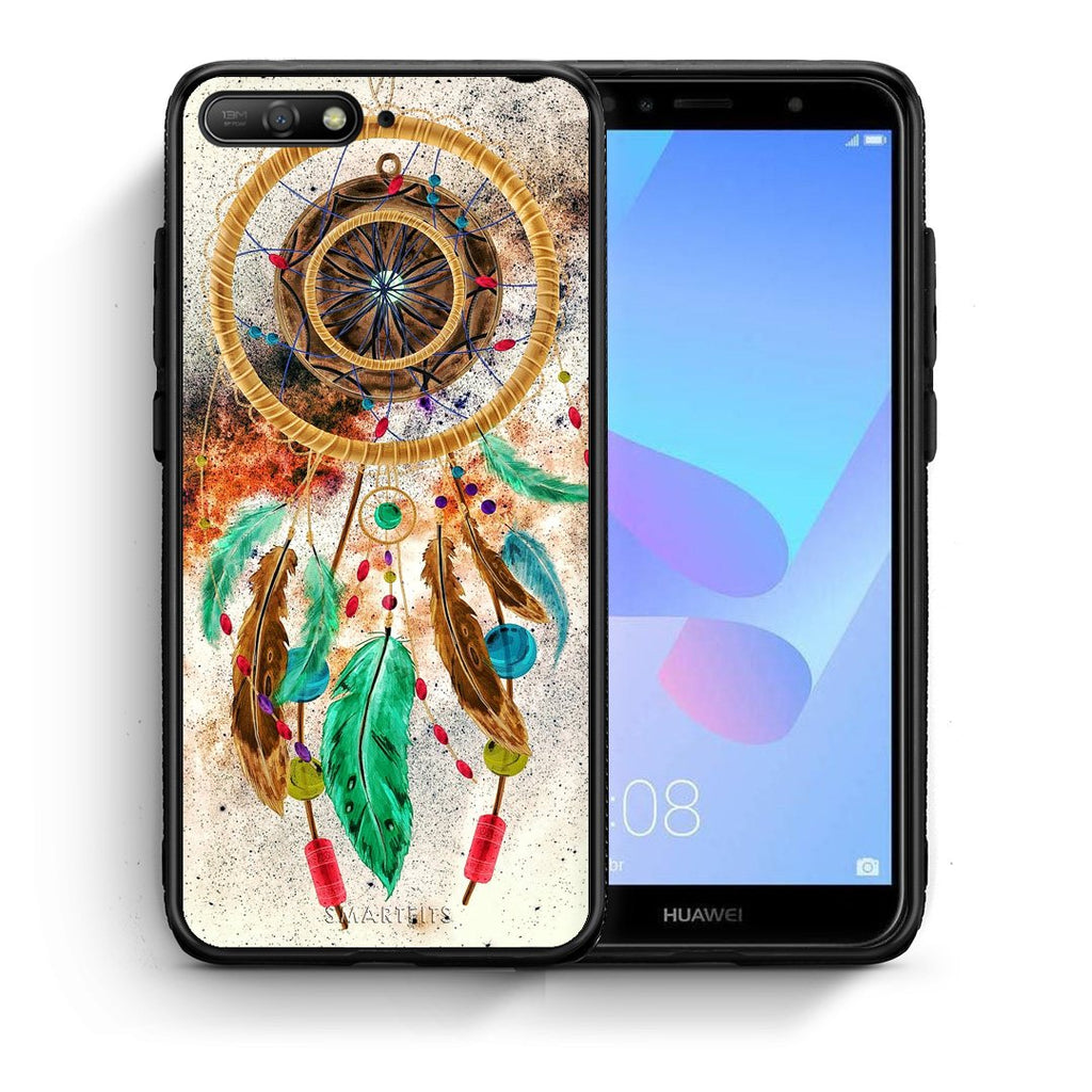 4 - Huawei Y6 2018 DreamCatcher Boho case, cover, bumper
