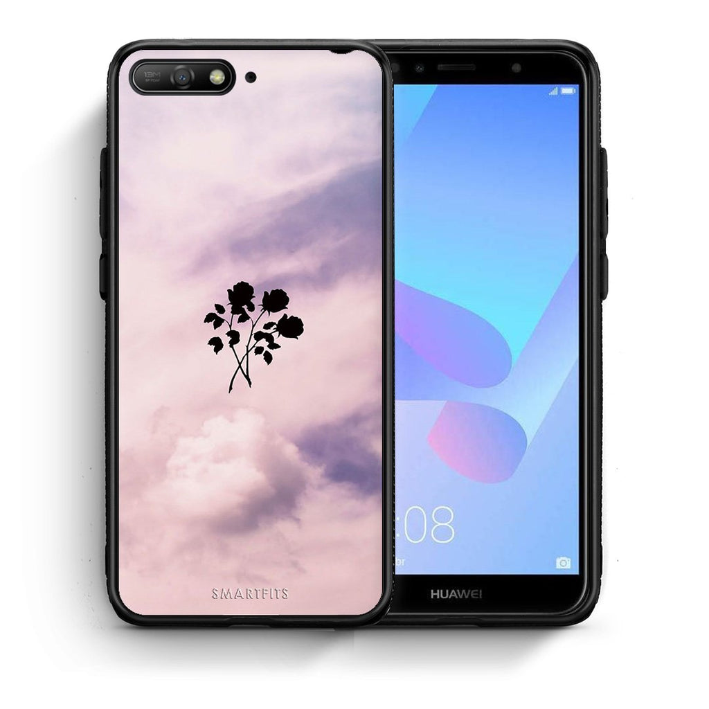4 - Huawei Y6 2018 Sky Flower case, cover, bumper