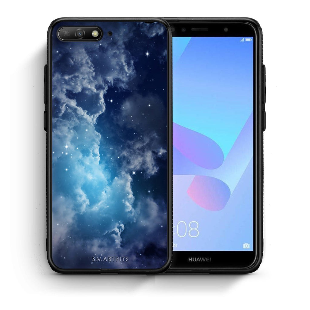 104 - Huawei Y6 2018 Blue Sky Galaxy case, cover, bumper
