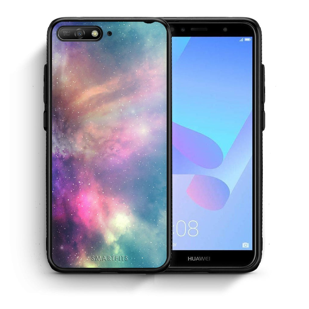105 - Huawei Y6 2018 Rainbow Galaxy case, cover, bumper