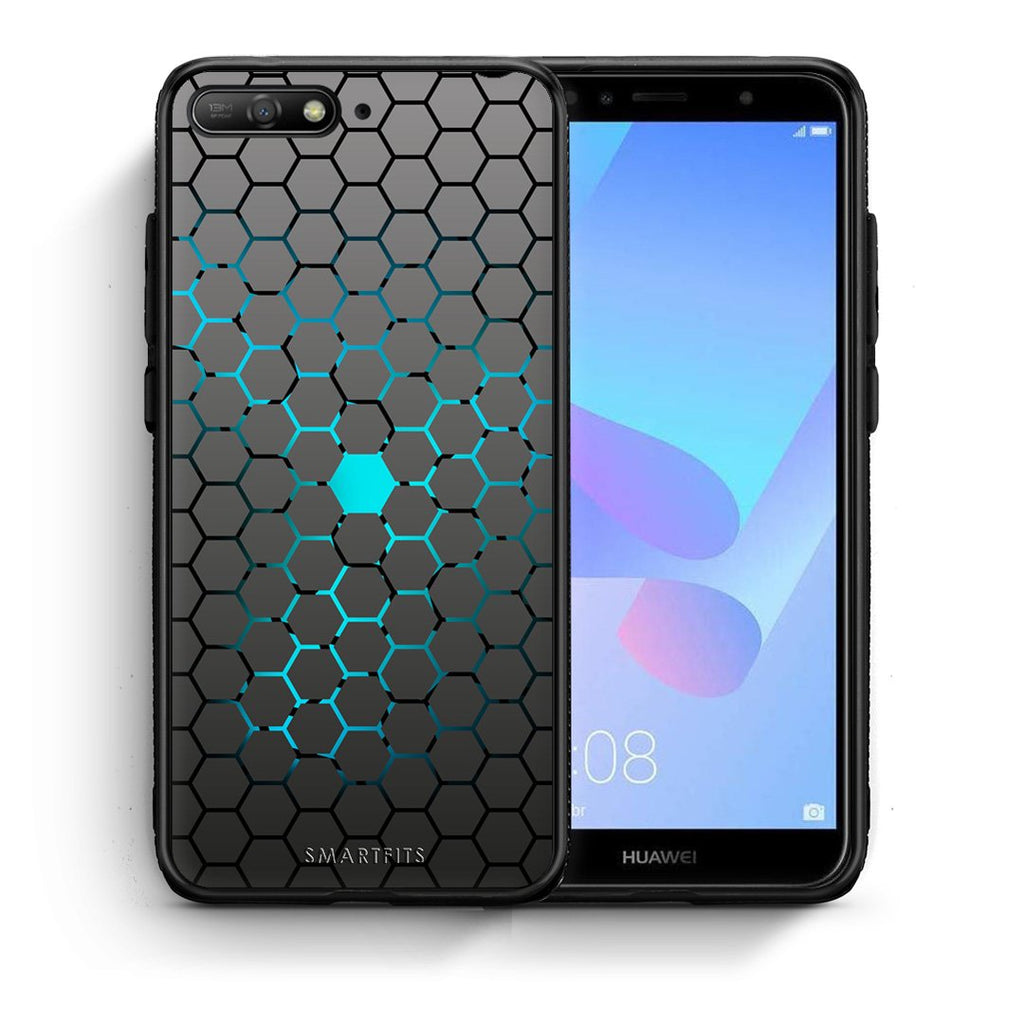 40 - Huawei Y6 2018 Hexagonal Geometric case, cover, bumper