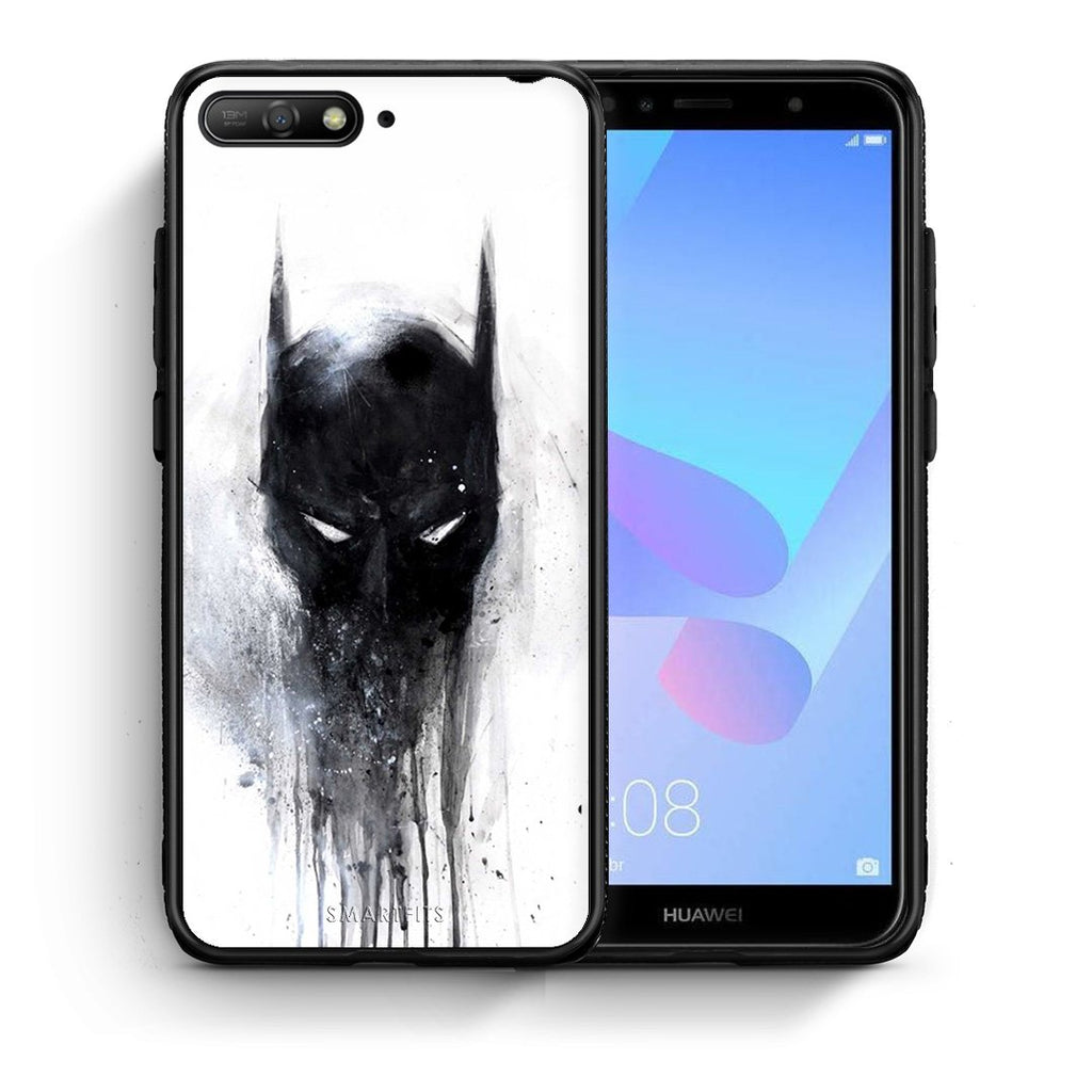 4 - Huawei Y6 2018 Paint Bat Hero case, cover, bumper