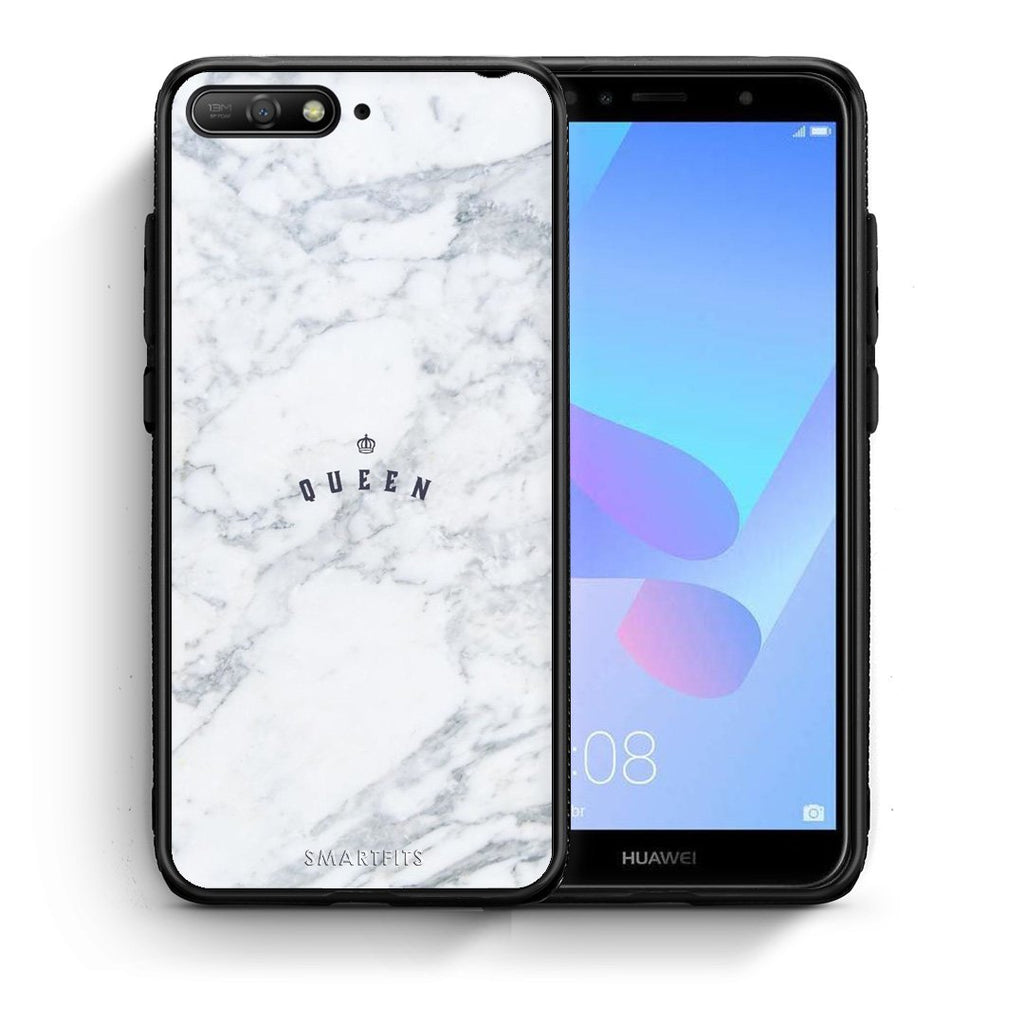 4 - Huawei Y6 2018 Queen Marble case, cover, bumper