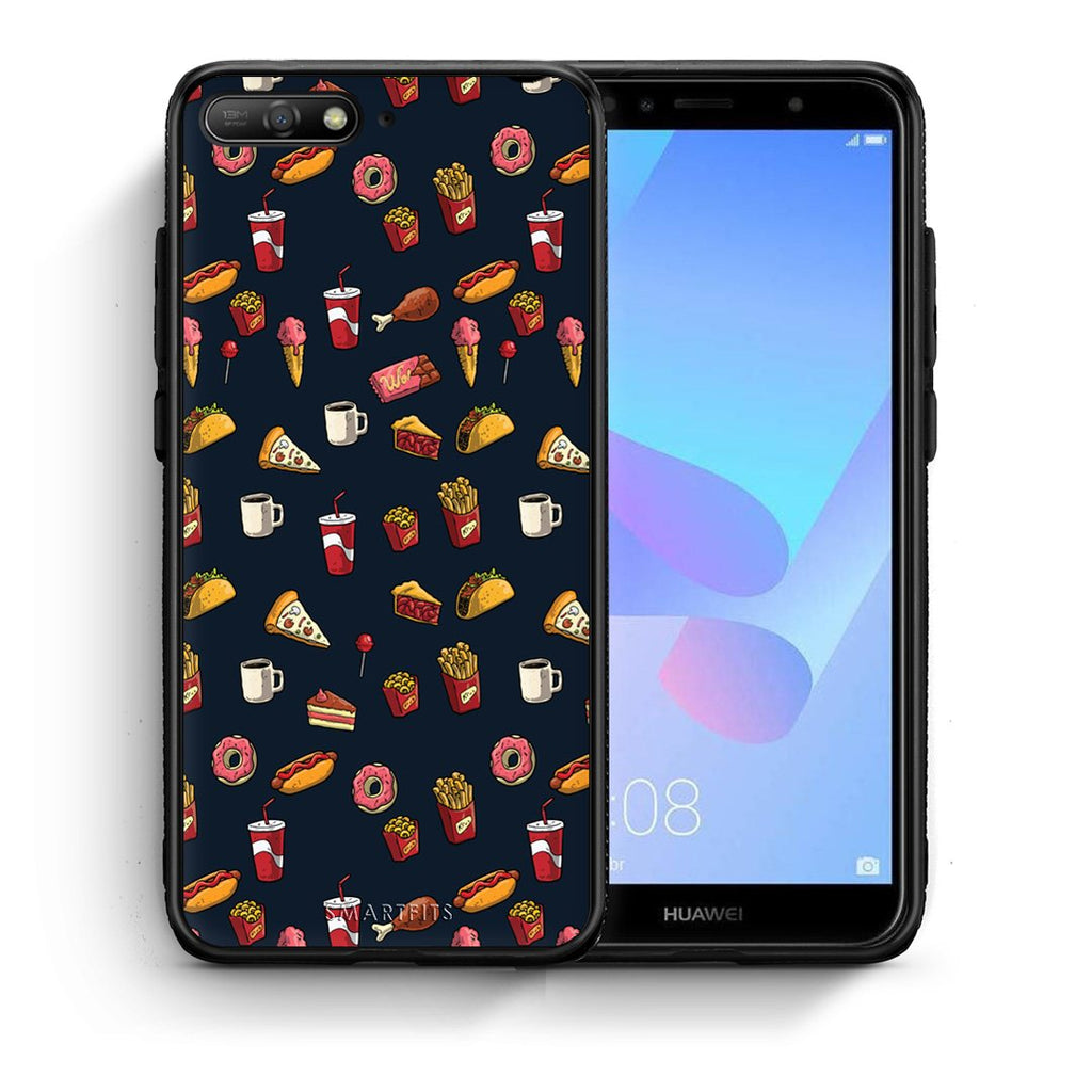 118 - Huawei Y6 2018 Hungry Random case, cover, bumper