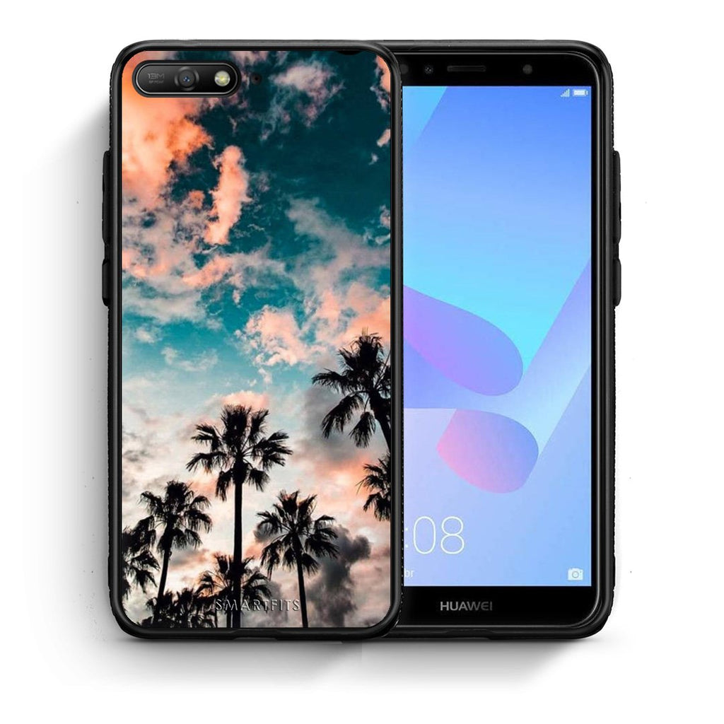 99 - Huawei Y6 2018 Summer Sky case, cover, bumper