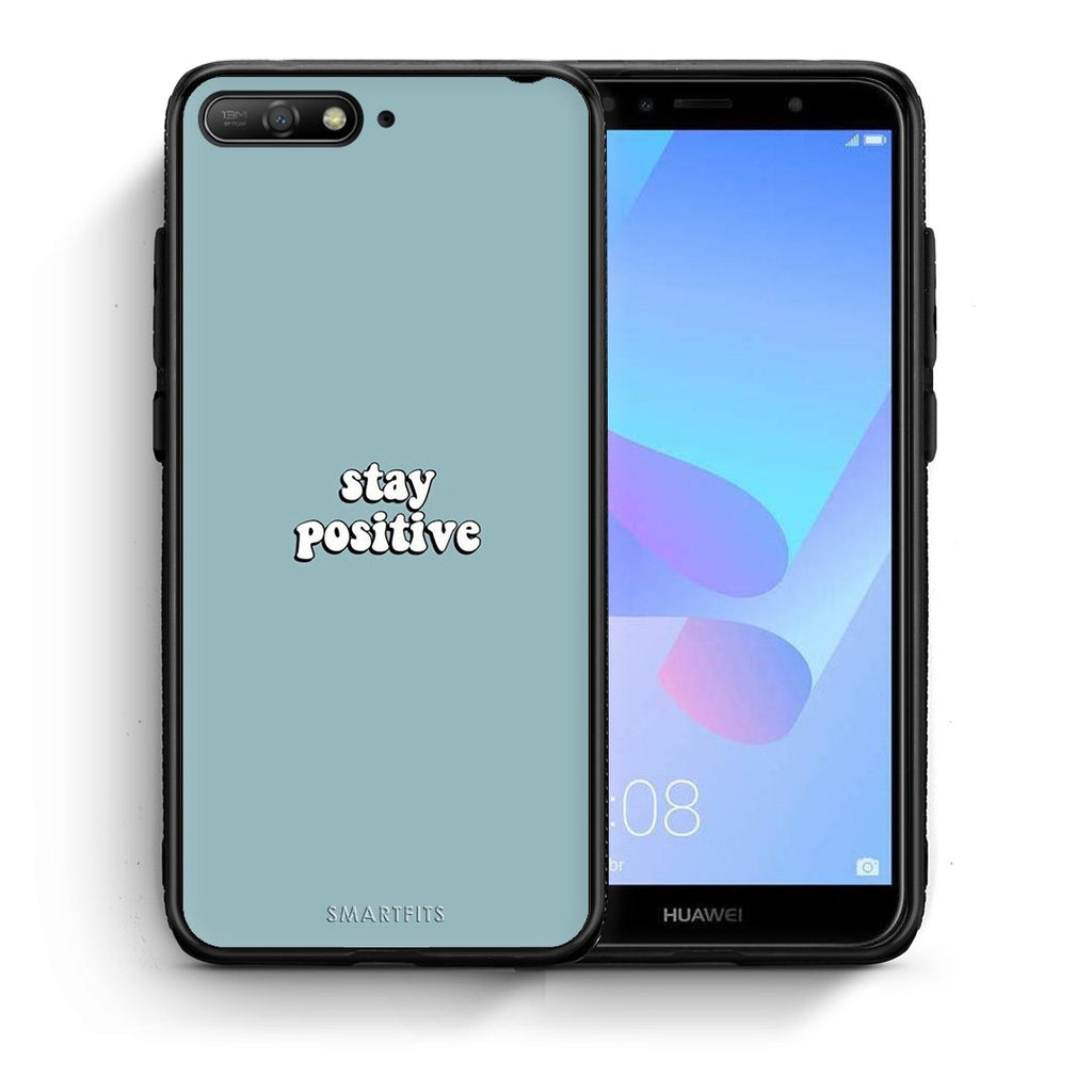 4 - Huawei Y6 2018 Positive Text case, cover, bumper