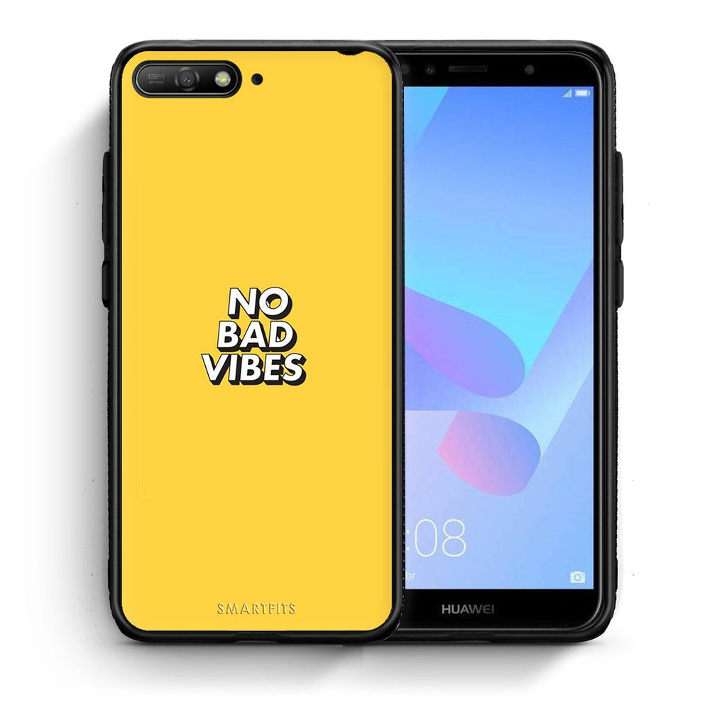 4 - Huawei Y6 2018 Vibes Text case, cover, bumper