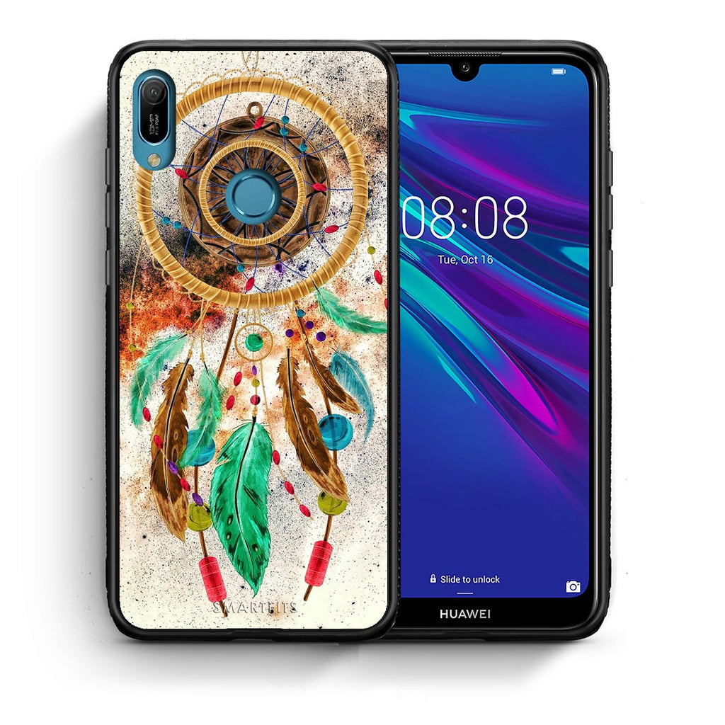 4 - Huawei Y6 2019 DreamCatcher Boho case, cover, bumper