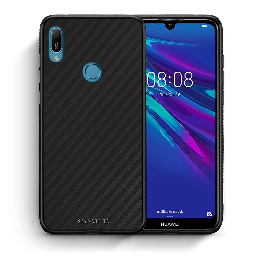 0 - Huawei Y6 2019 Black Carbon case, cover, bumper