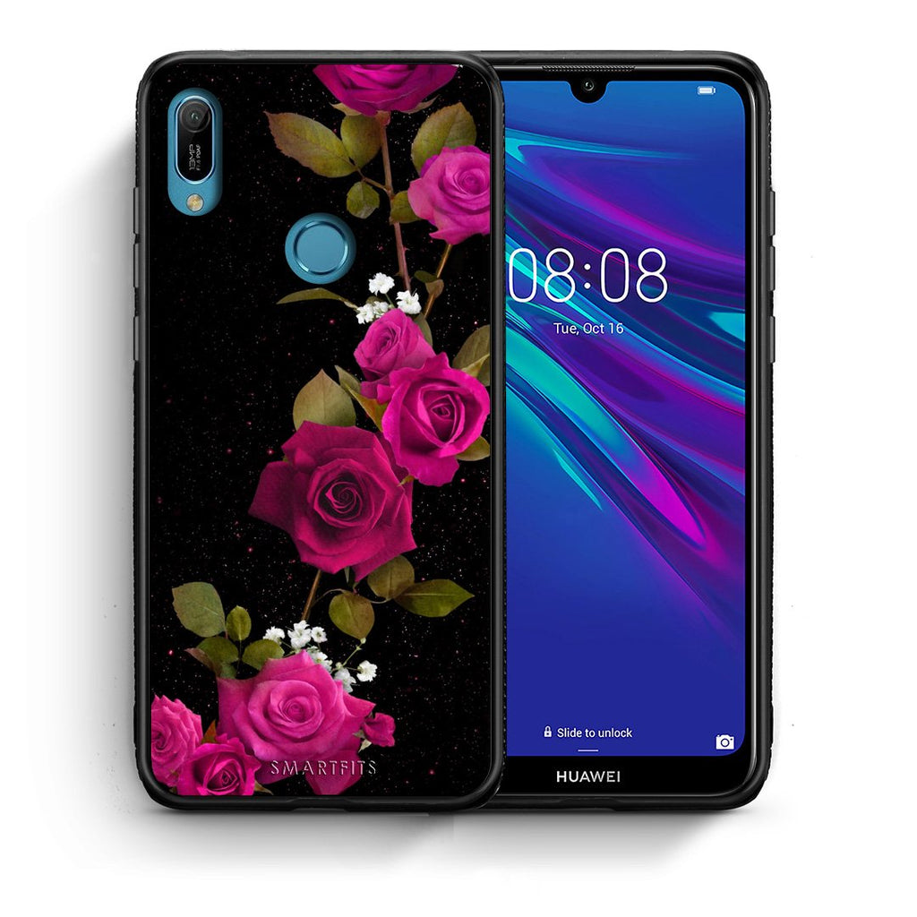 4 - Huawei Y6 2019 Red Roses Flower case, cover, bumper
