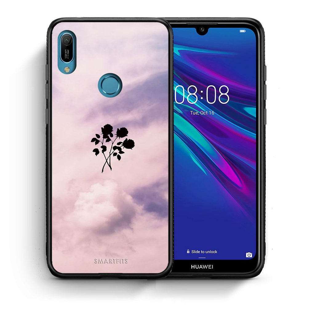 4 - Huawei Y6 2019 Sky Flower case, cover, bumper