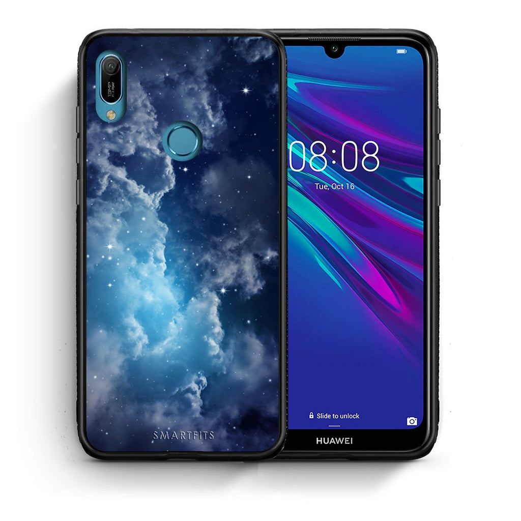 104 - Huawei Y6 2019 Blue Sky Galaxy case, cover, bumper