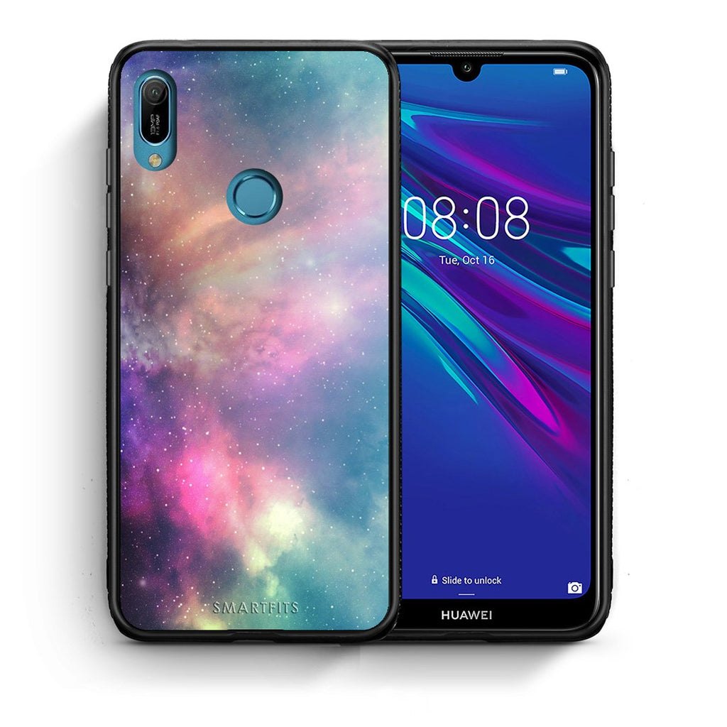 105 - Huawei Y6 2019 Rainbow Galaxy case, cover, bumper