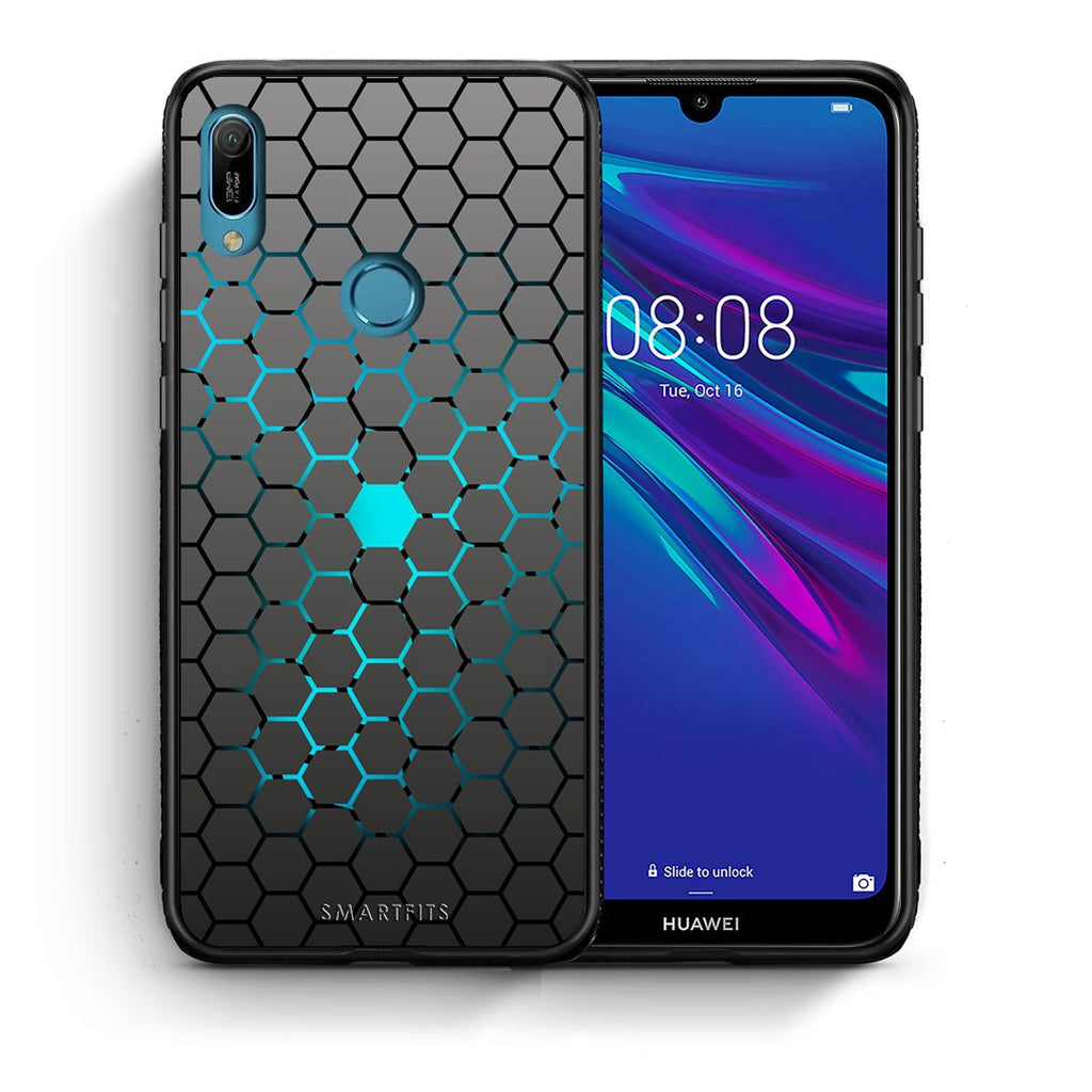 40 - Huawei Y6 2019 Hexagonal Geometric case, cover, bumper