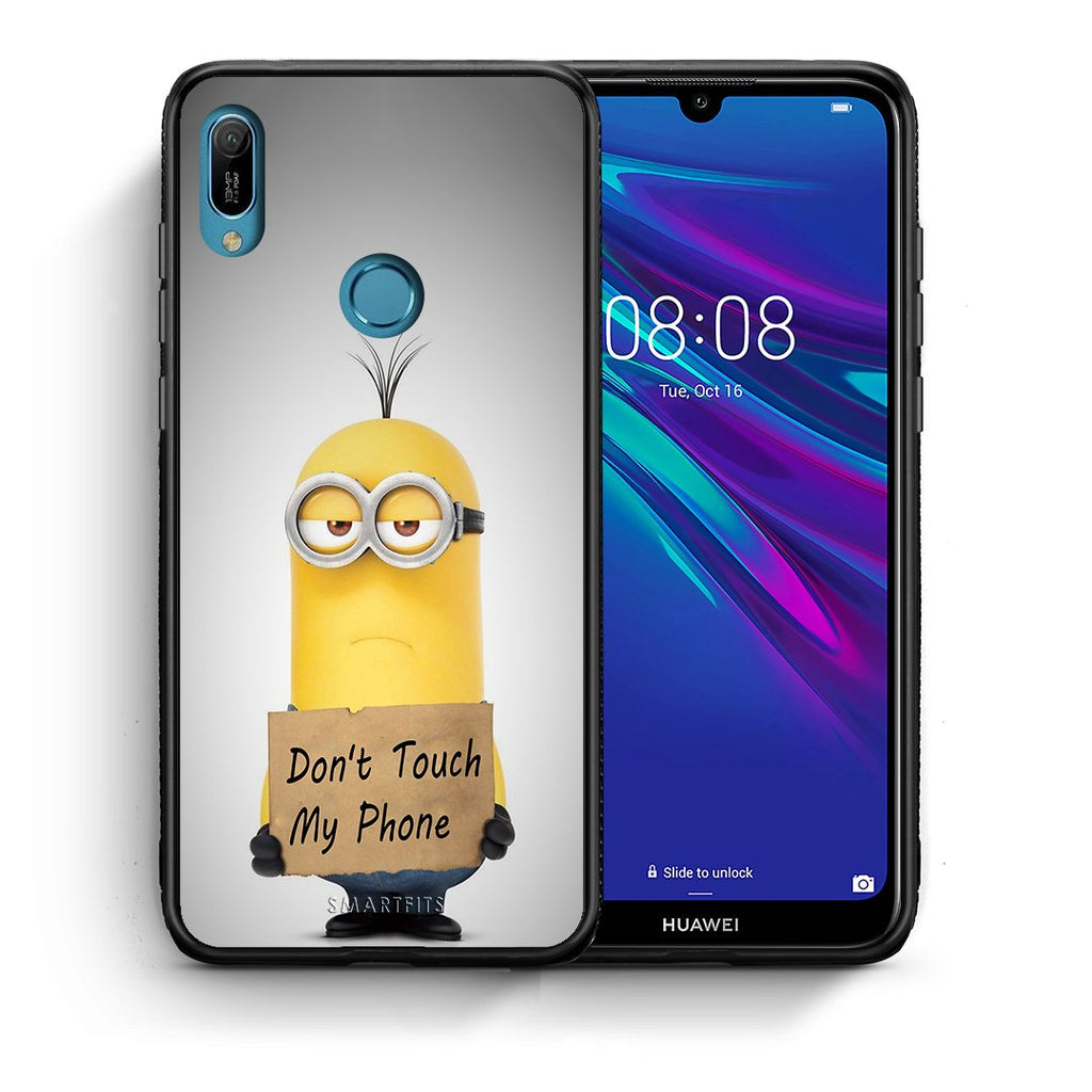 4 - Huawei Y6 2019 Minion Text case, cover, bumper