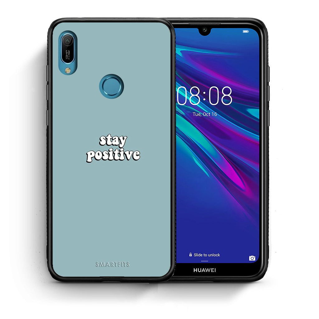 4 - Huawei Y6 2019 Positive Text case, cover, bumper