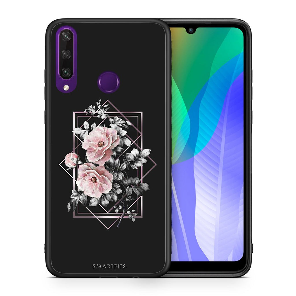 4 - Huawei Y6p Frame Flower case, cover, bumper