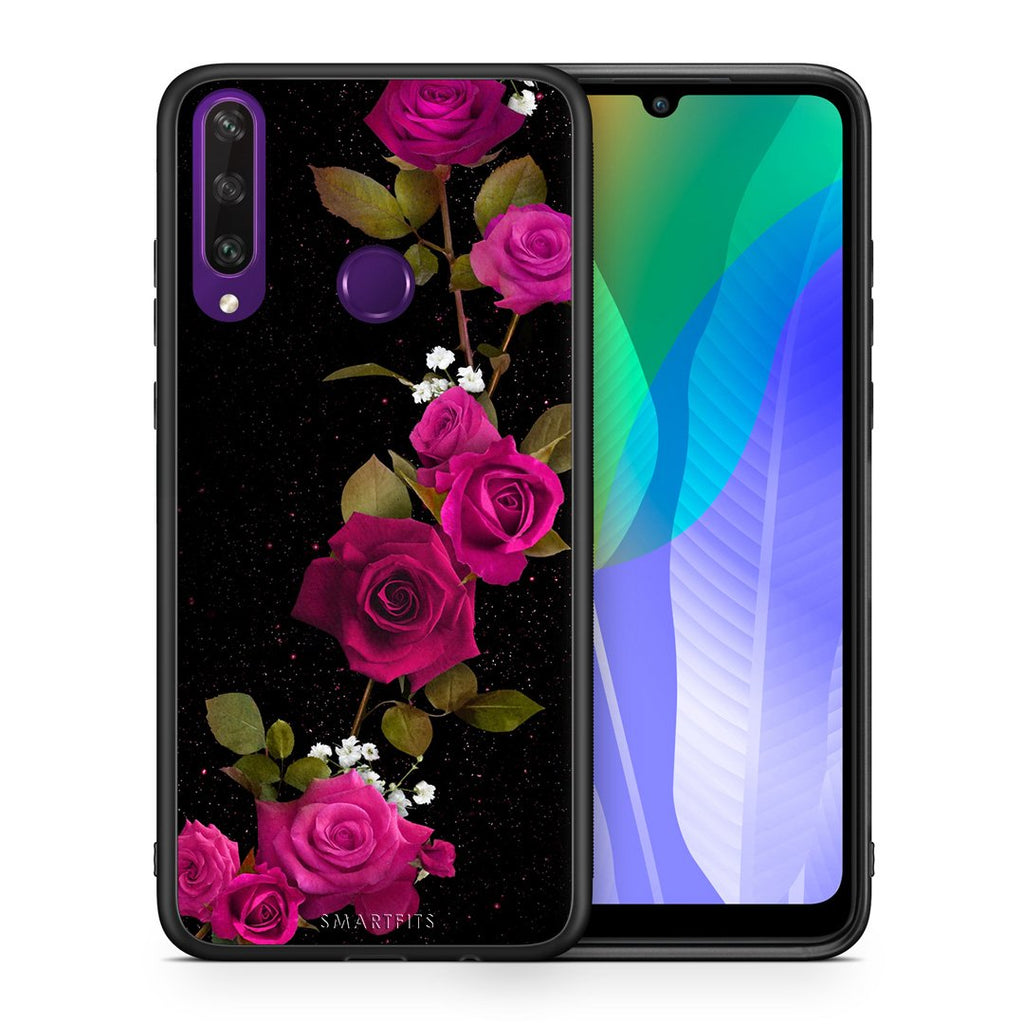 4 - Huawei Y6p Red Roses Flower case, cover, bumper