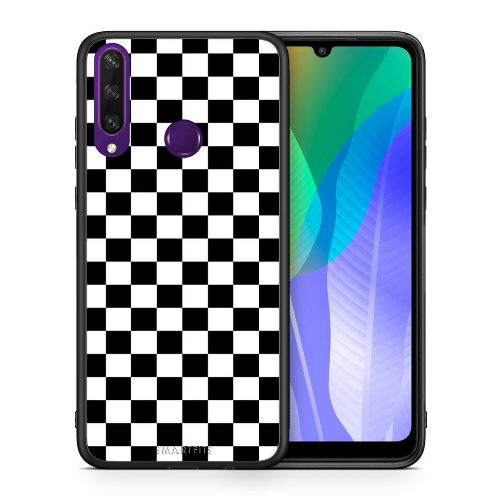4 - Huawei Y6p Squares Geometric case, cover, bumper