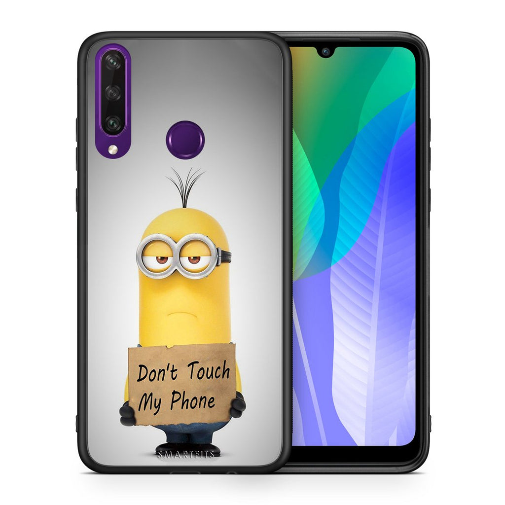 4 - Huawei Y6p Minion Text case, cover, bumper