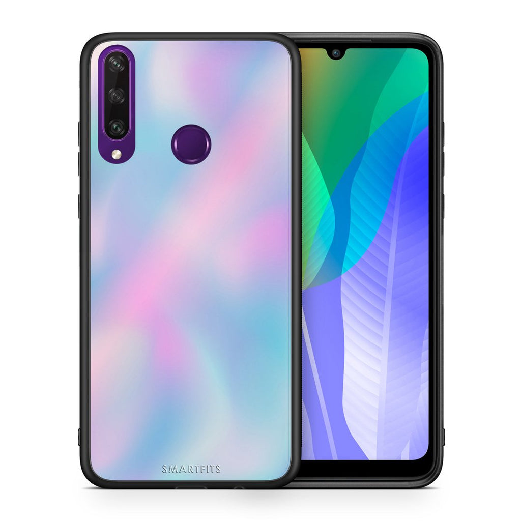 Θήκη Huawei Y6p Rainbow Watercolor από τη Smartfits με σχέδιο στο πίσω μέρος και μαύρο περίβλημα | Huawei Y6p Rainbow Watercolor case with colorful back and black bezels