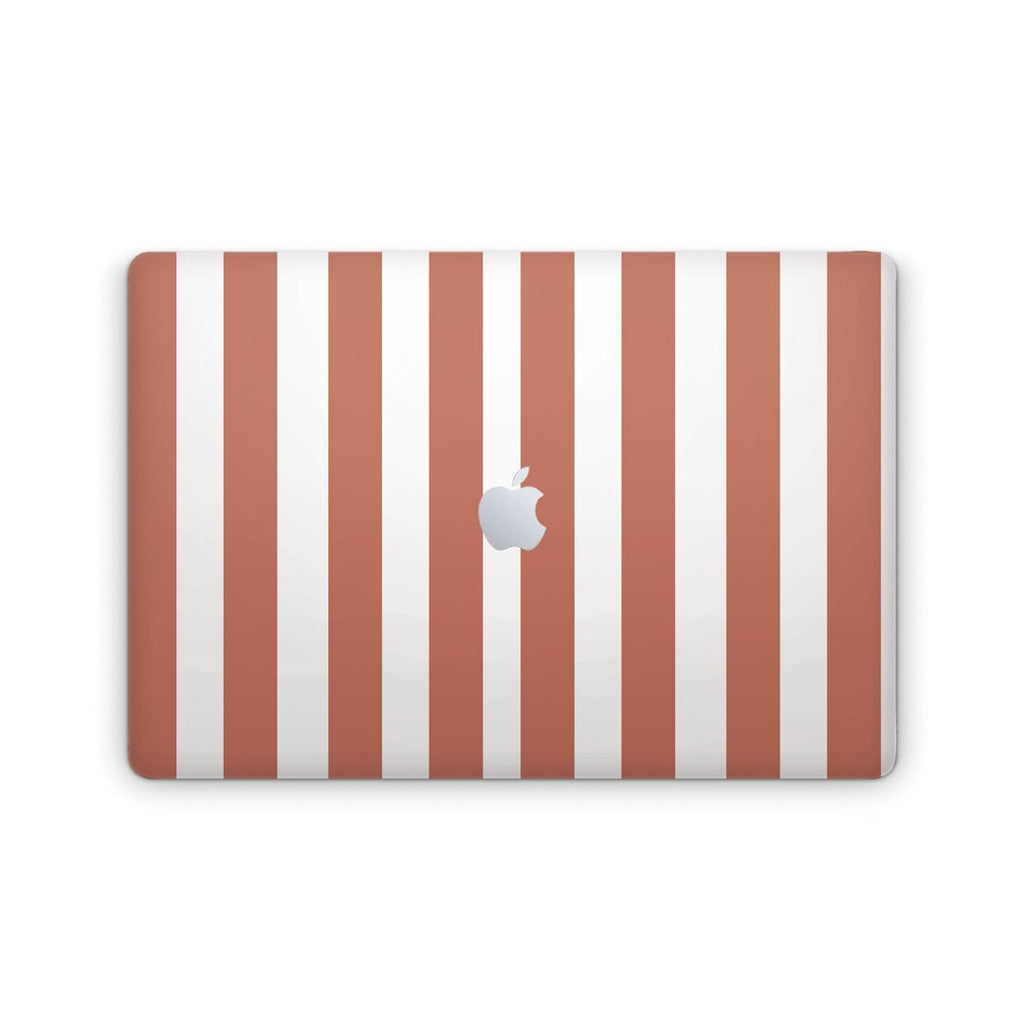 Macbook Nude Stripes Checked Skin