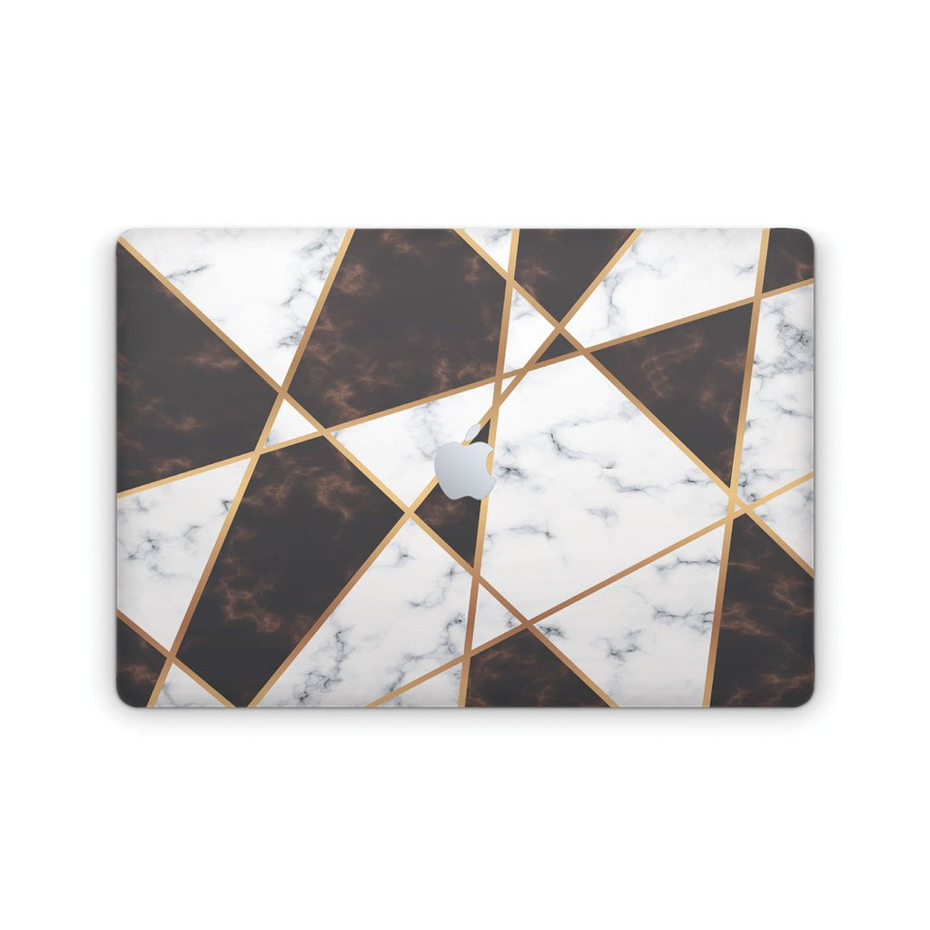 Macbook Gold Chess Marble Skin