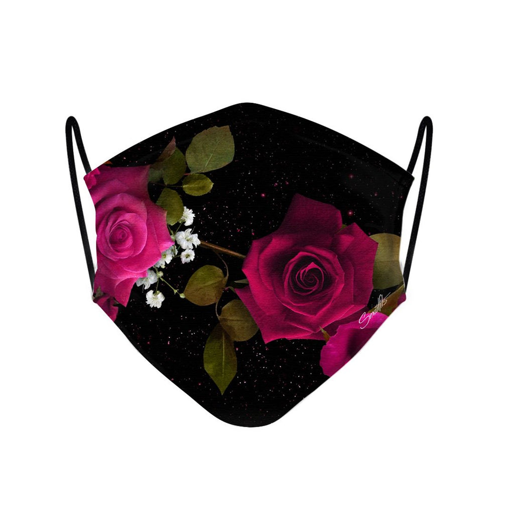 4 - Face Mask Red Roses Flower case, cover, bumper