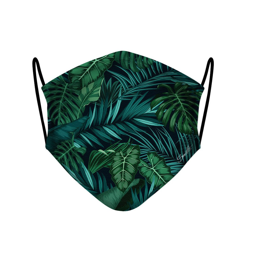 99 - Face Mask  Tropic Leaves case, cover, bumper