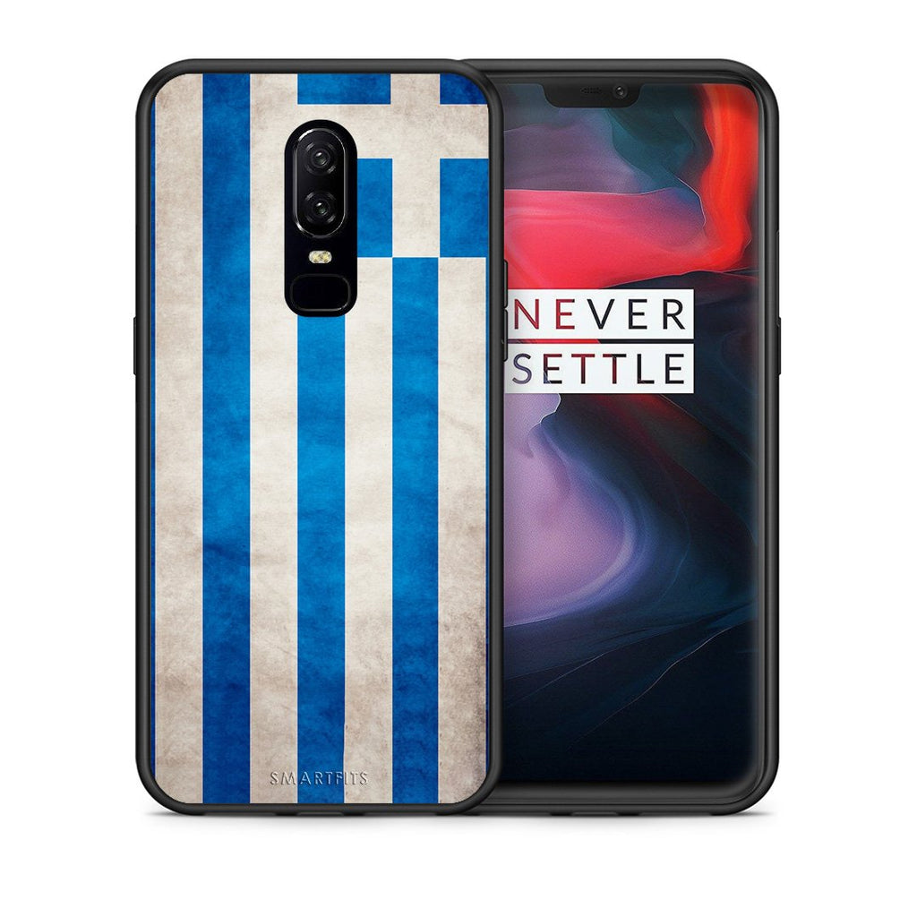4 - OnePlus 6 Greece Flag case, cover, bumper