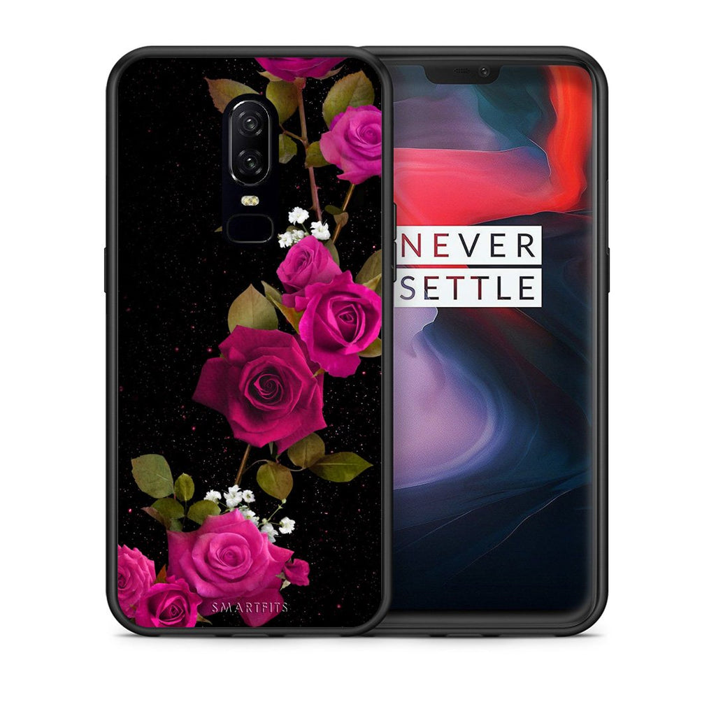 4 - OnePlus 6 Red Roses Flower case, cover, bumper
