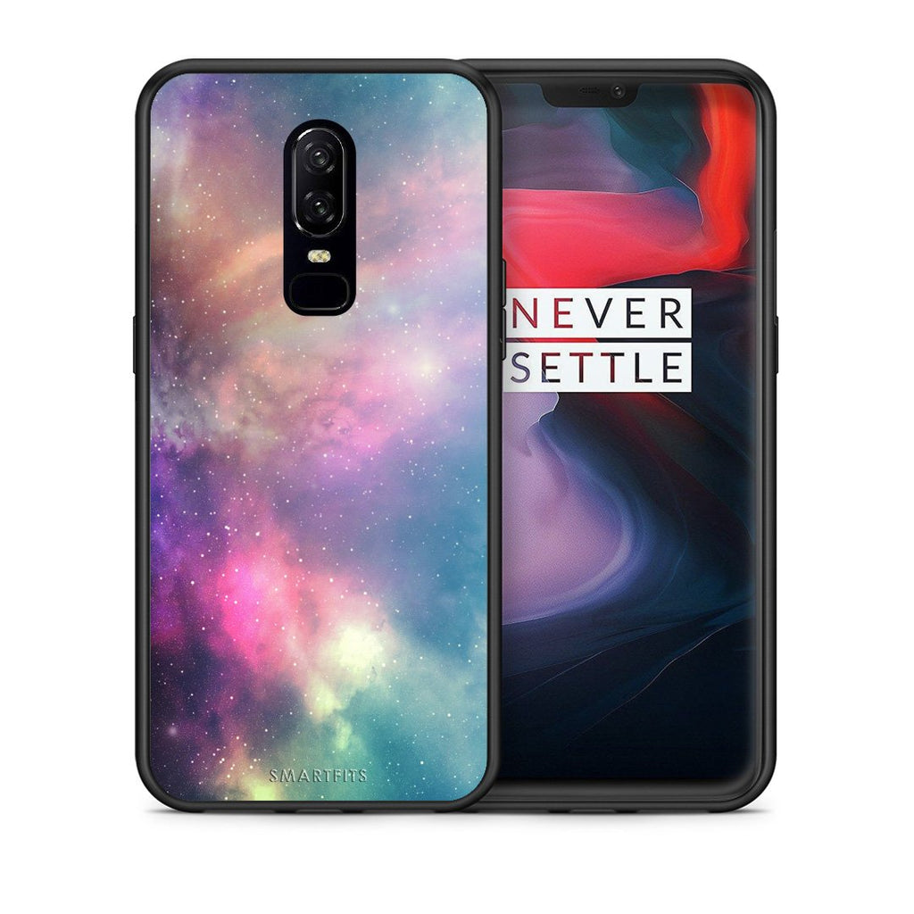 105 - OnePlus 6 Rainbow Galaxy case, cover, bumper