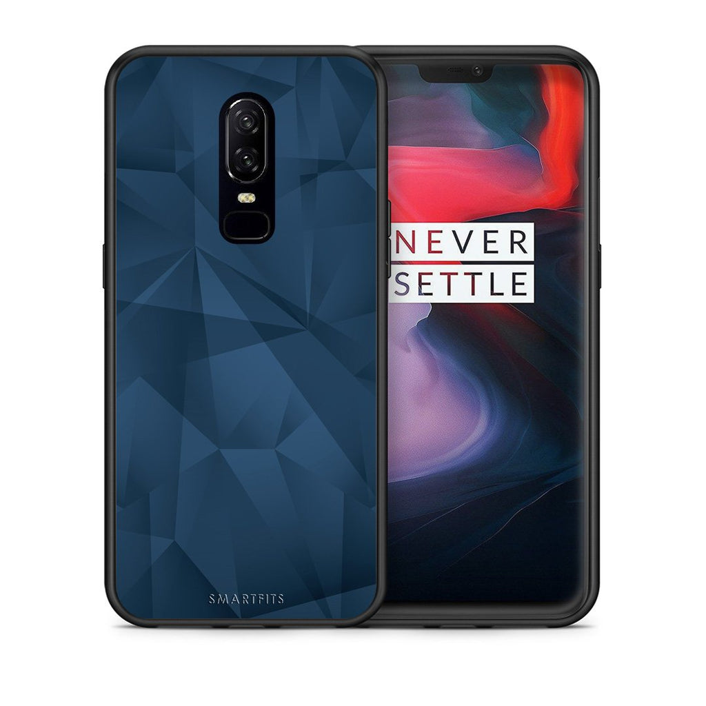 39 - OnePlus 6 Blue Abstract Geometric case, cover, bumper