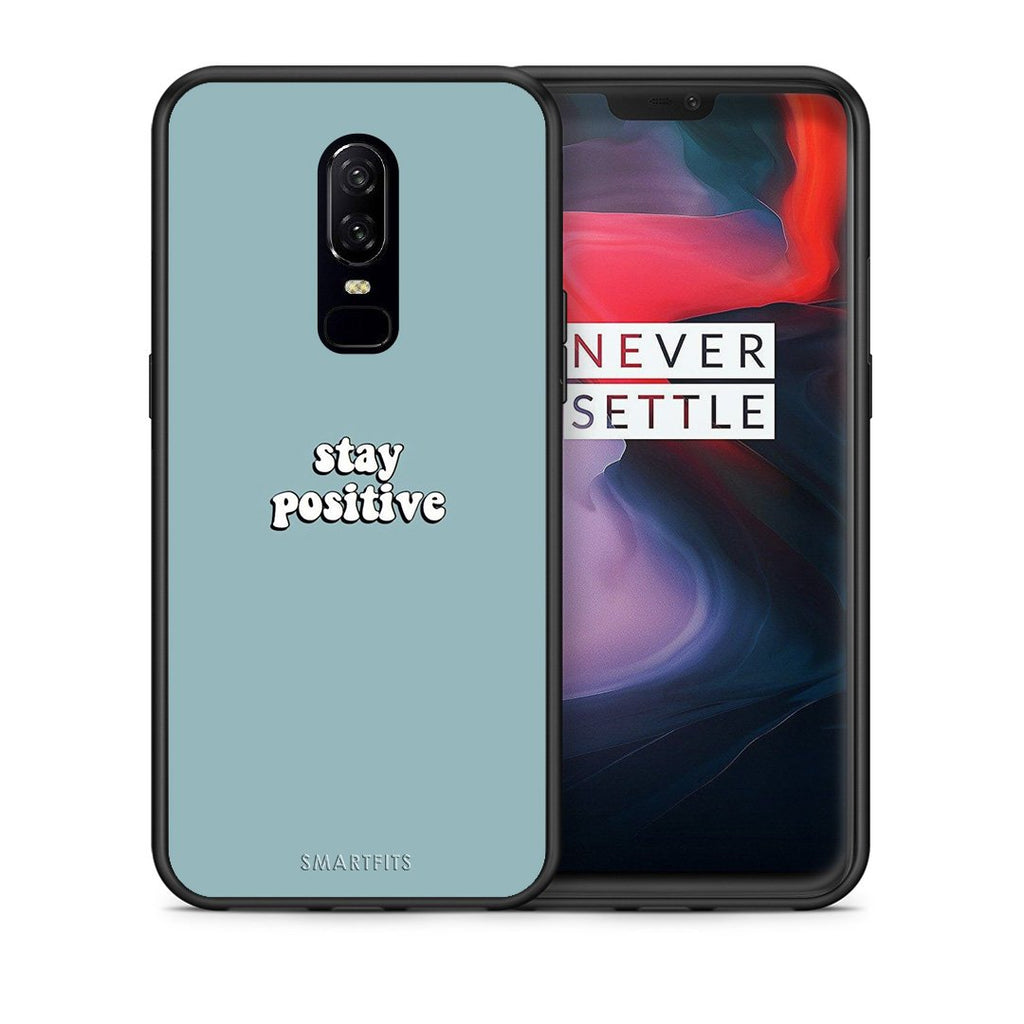 4 - OnePlus 6 Positive Text case, cover, bumper