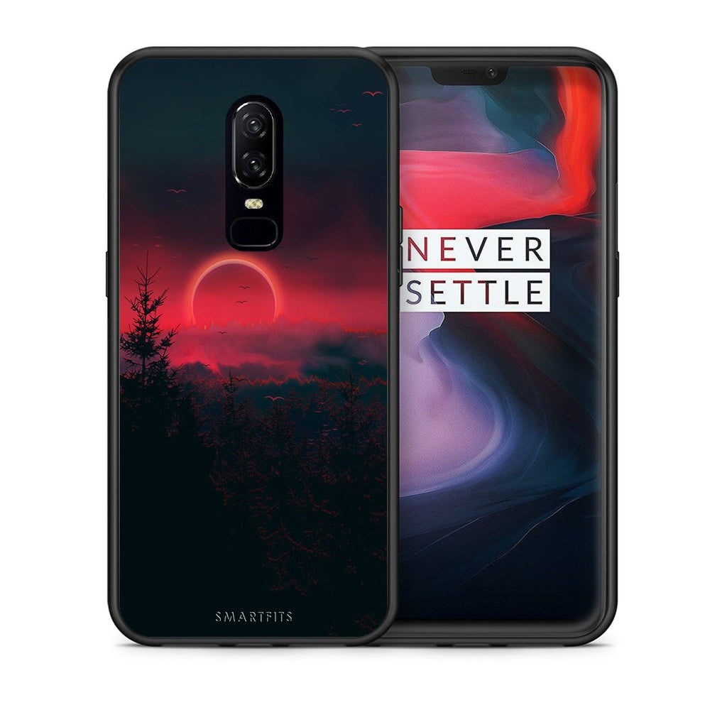 4 - OnePlus 6 Sunset Tropic case, cover, bumper