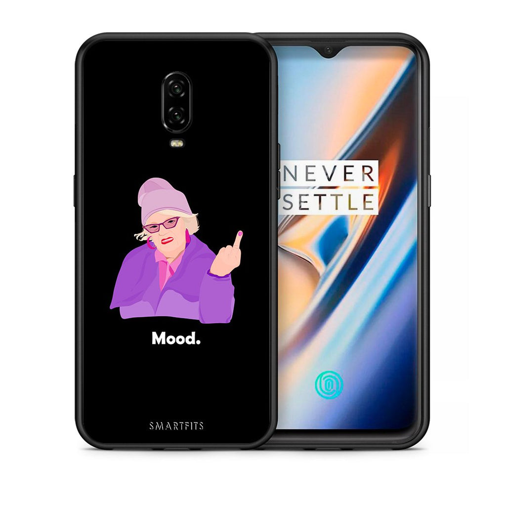 Θήκη OnePlus 6T Grandma Mood Black από τη Smartfits με σχέδιο στο πίσω μέρος και μαύρο περίβλημα | OnePlus 6T Grandma Mood Black case with colorful back and black bezels