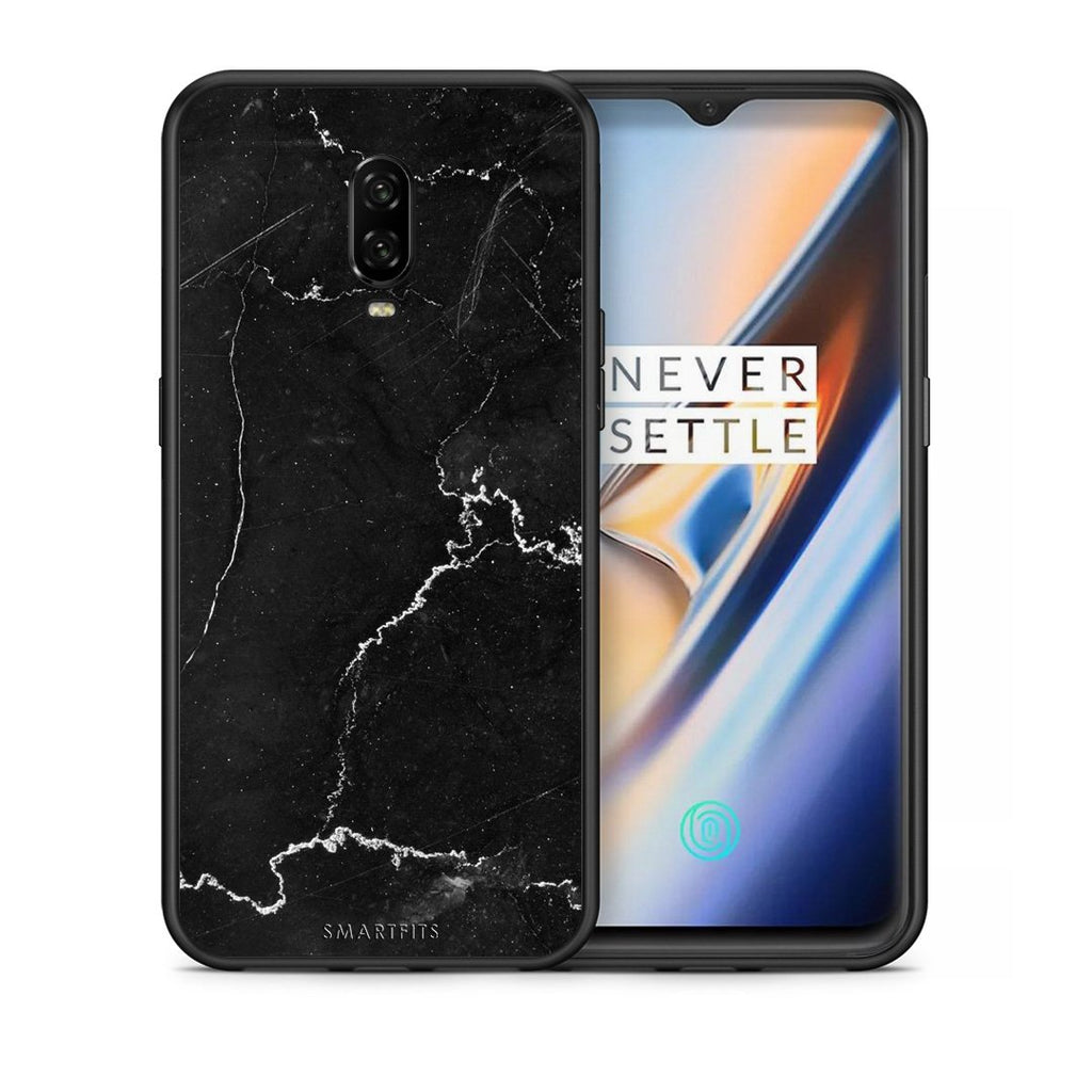 1 - OnePlus 6T black marble case, cover, bumper