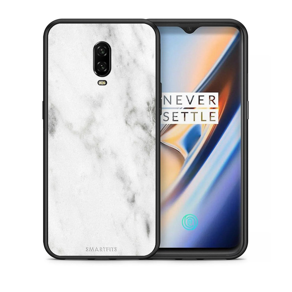 2 - OnePlus 6T White marble case, cover, bumper