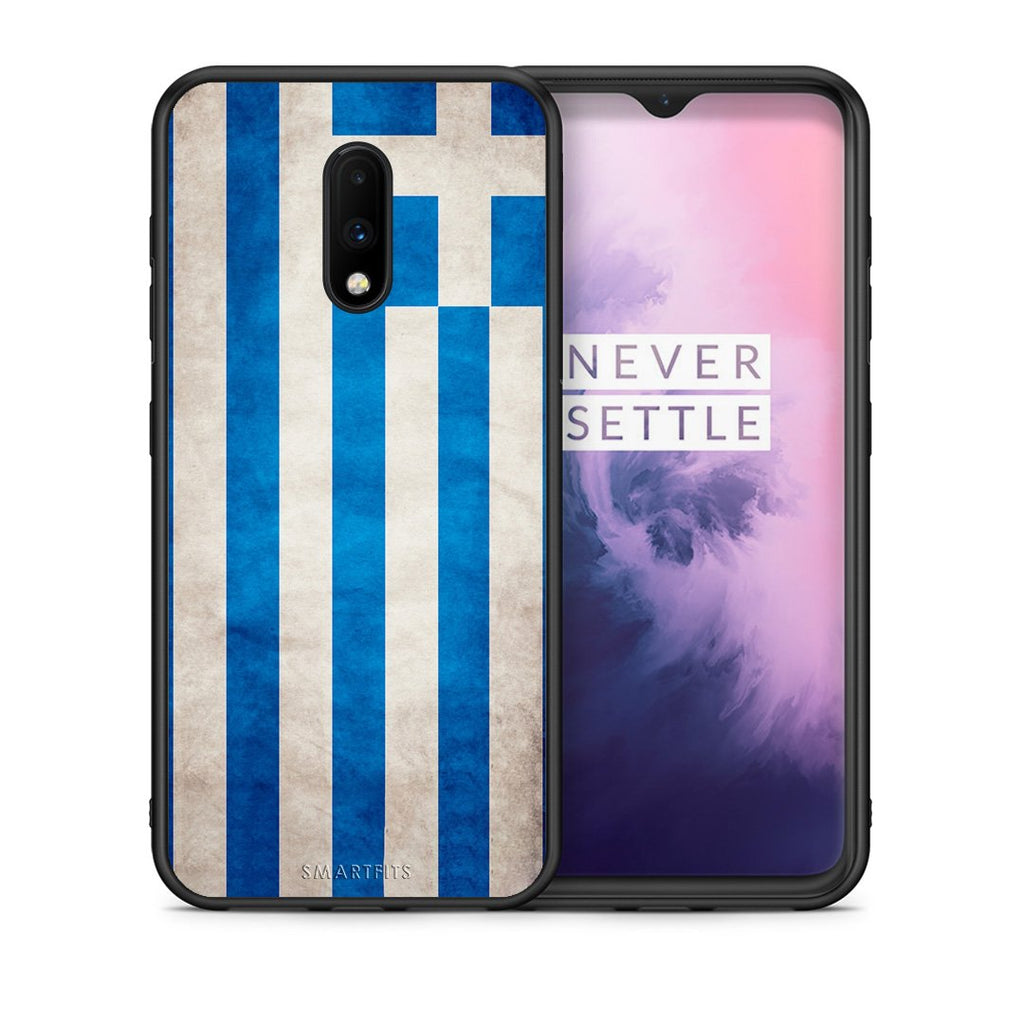 4 - OnePlus 7 Greece Flag case, cover, bumper