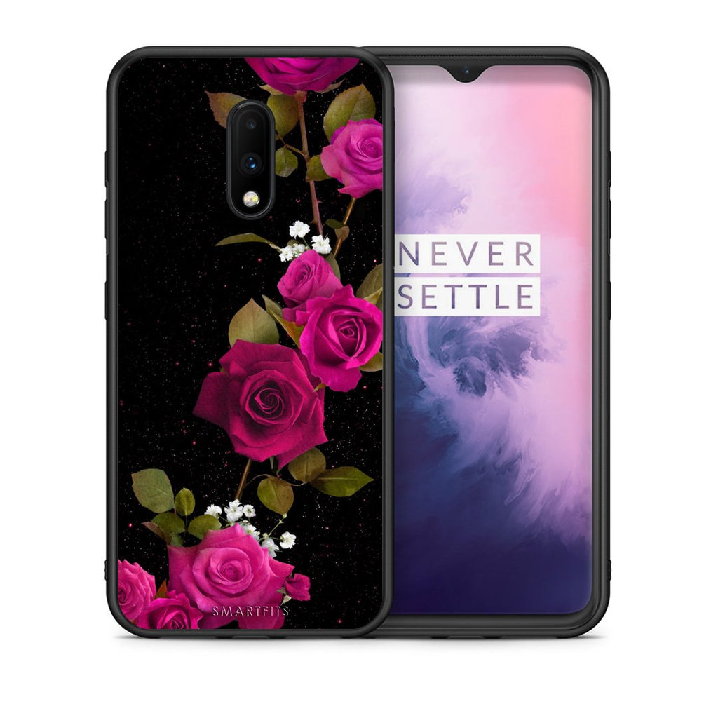 4 - OnePlus 7 Red Roses Flower case, cover, bumper
